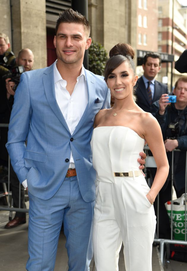 Janette and fiancéAljaž at an event in