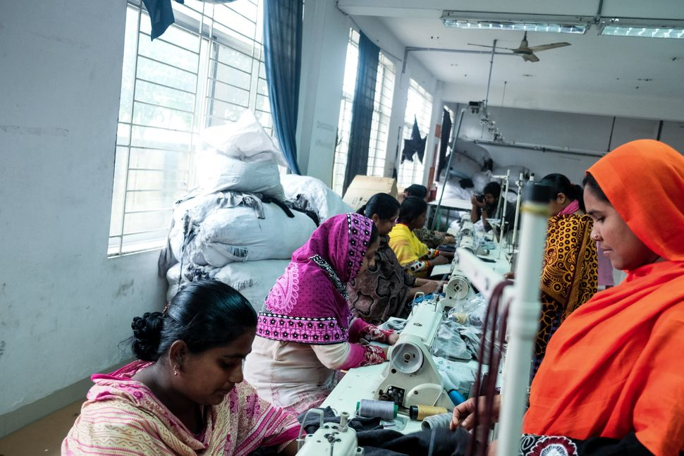 Women at work in a garment factory in Gazipur in January 2016. January and February are slower months for the garment industr