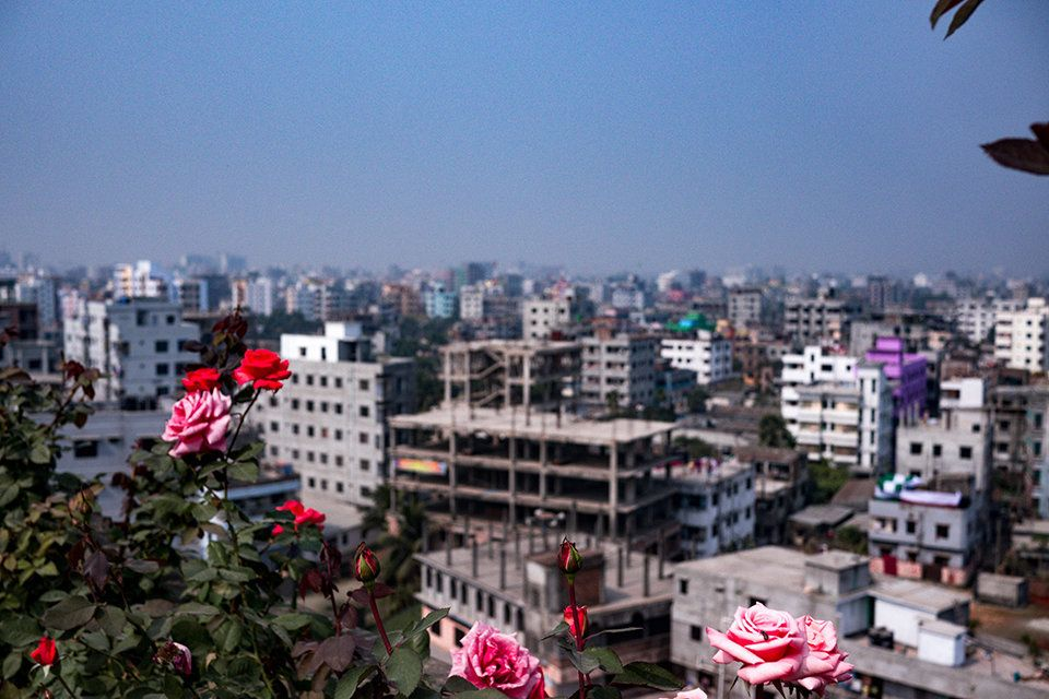 This photo shows a view of Dhaka, where one of the photography workshops was held.