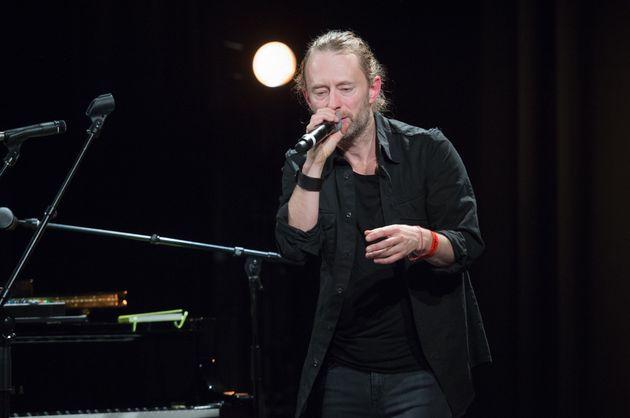 Thom Yorke of Radiohead performing in Paris last