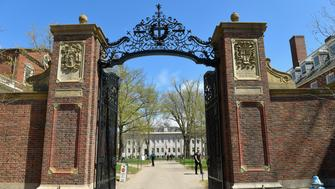 BOSTON, MASSACHUSETTS - APRIL 28:  A general view of the Gates of Harvard University, of which there are 26, on April 28, 2016 in Cambridge, Massachusetts.  (Photo by Paul Marotta/Getty Images)