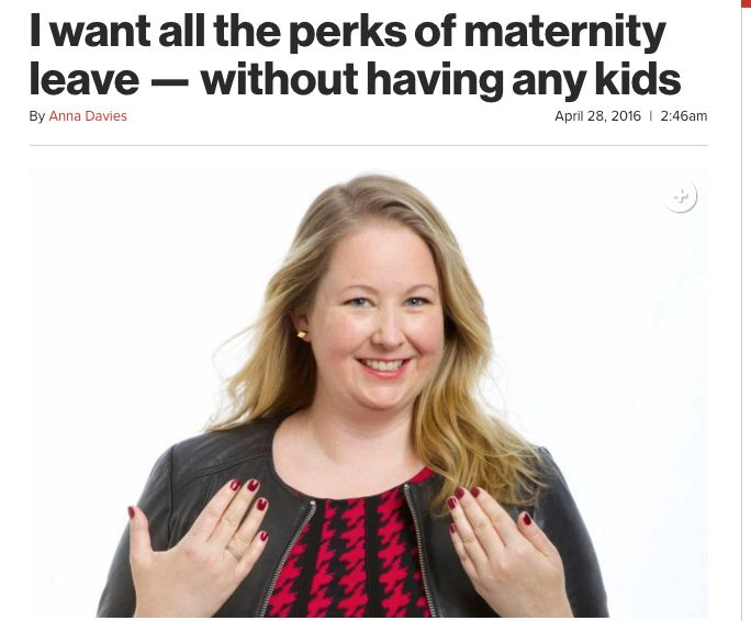 This headline did not go over well with mothers.