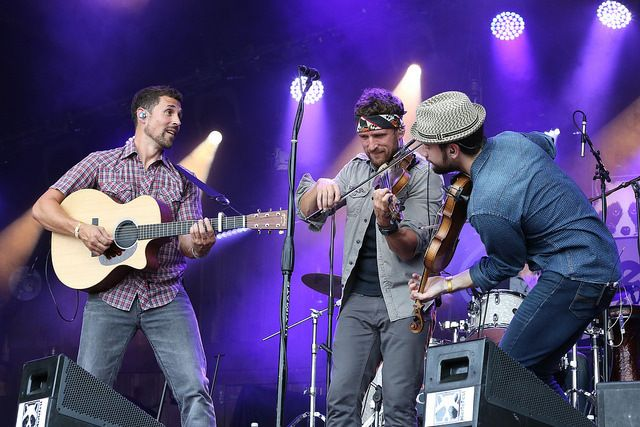 Celtic folk rockers Scythian play to thousandsduring several shows at MerleFest, an annual Americana music festival in