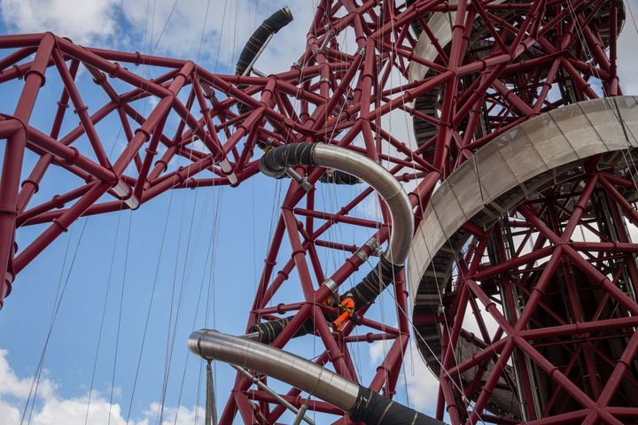 The world's tallest and longest tunnel slide in London.