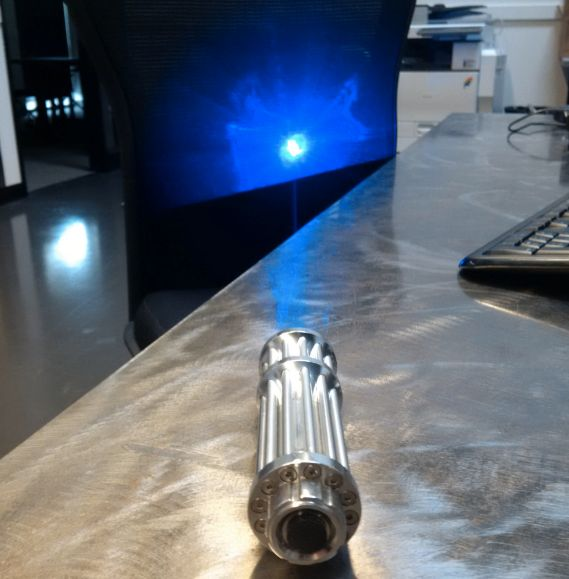 Authorities say a Washington state man injured two ferry operators by deliberately shining this laser pointer in their eyes.