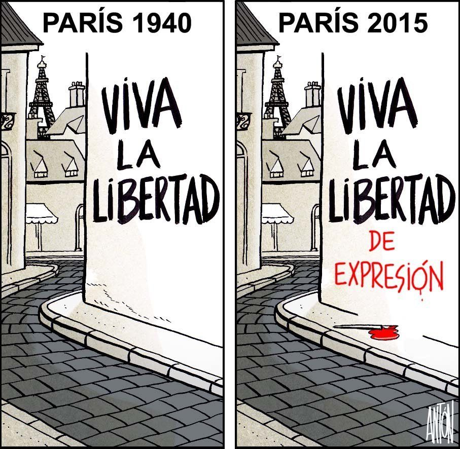 Paris 1940: Long Live Freedom<br>Pairs 2015:&nbsp;Long Live Freedom of Expression