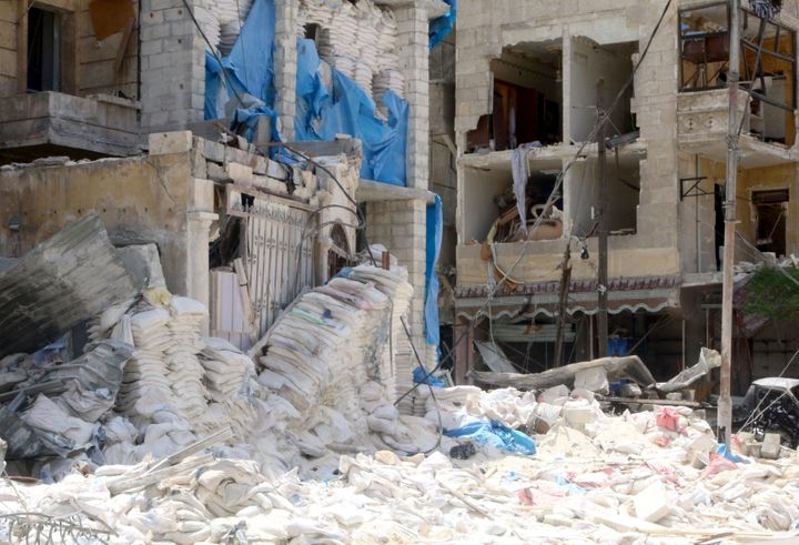 The al Quds Hospital in Aleppo, Syria, was destroyed by airstrikes last week. At least 27 people, including two doctors and t