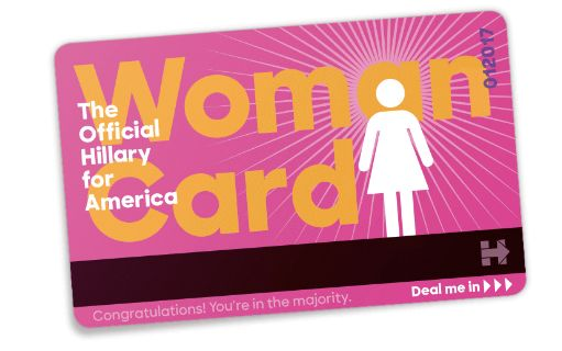 """The Hillary Clinton campaign released a """"woman card"""" in response to attacks from Donald Trump."""