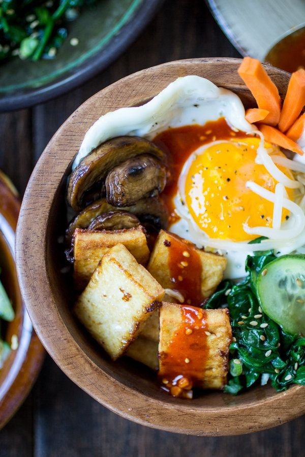 "<strong>Get the <a href=""http://thewanderlustkitchen.com/vegetarian-korean-bibimbap-bowls/"" target=""_blank"">Vegetarian Korean Bibimbap Bowls recipe</a> from The Wanderlust Kitchen</strong>"
