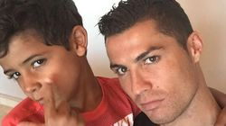 Cristiano Ronaldo Teaches His Son How To Take The Perfect
