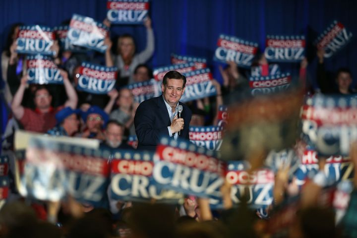 Sen. Ted Cruz (R-TX) speaks during a campaign rally at the Indiana State Fairgrounds on May 2, 2016 in Indianapolis, Indiana.