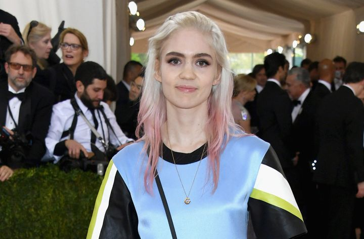 Grimes attends the Costume Institute Gala at the Metropolitan Museum of Art.