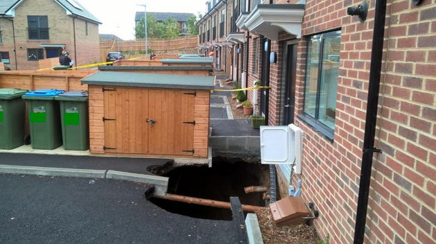 HomesinPlumstead had to be vacated after a sinkhole opened