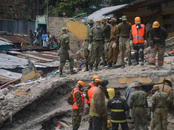 A six-month-old baby girl was pulled out of the rubble of a building in Nairobi, Kenya, that collapsed over three days ago.&n