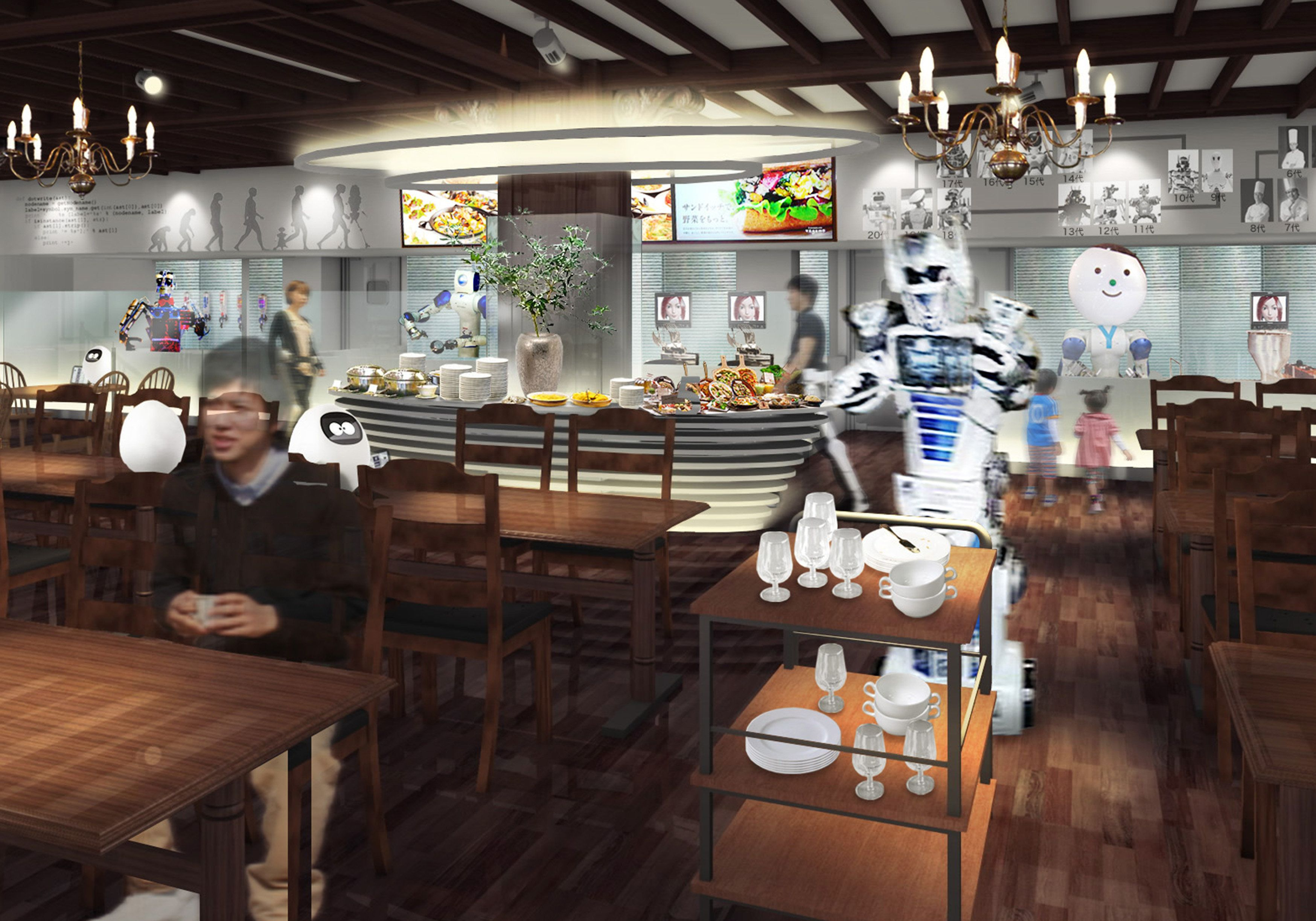 """A rendering of the new """"Kingdom of the Robot"""" land at Huis Ten Bosch theme park."""