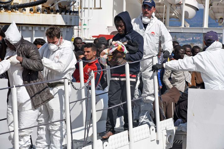 Migrants from West Africa, especially Nigerians, and the Horn of Africa dominate the Libya-Italy route.Peoplearri