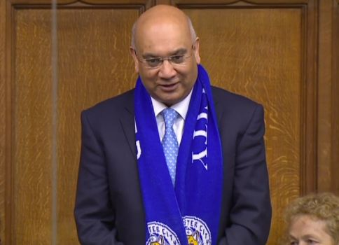 Leicester City: Keith Vaz MP Wears Scarf In House Of Commons And Wants Cheese