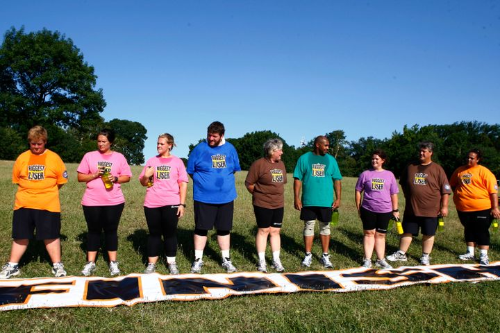 "A photo from season 8 of ""The Biggest Loser."""