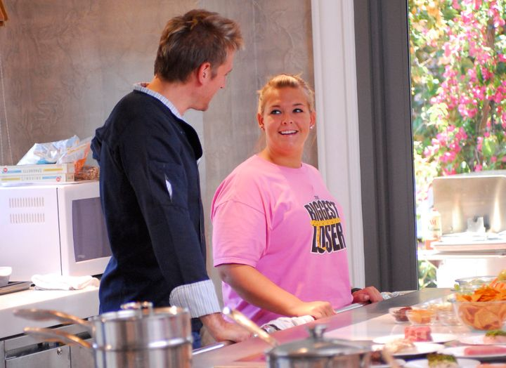 Chef Curtis Stone with season 8 contestant Amanda Arlauskas.