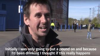 This man's meager alcohol-infused bet paid off big time.