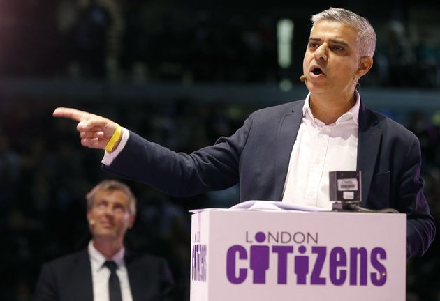 Goldsmith (left) will battle it out in the polls against Sadiq Khan (right) on