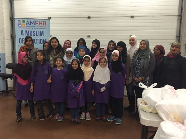 A group of Muslim women from New Jersey participated in the national service day.