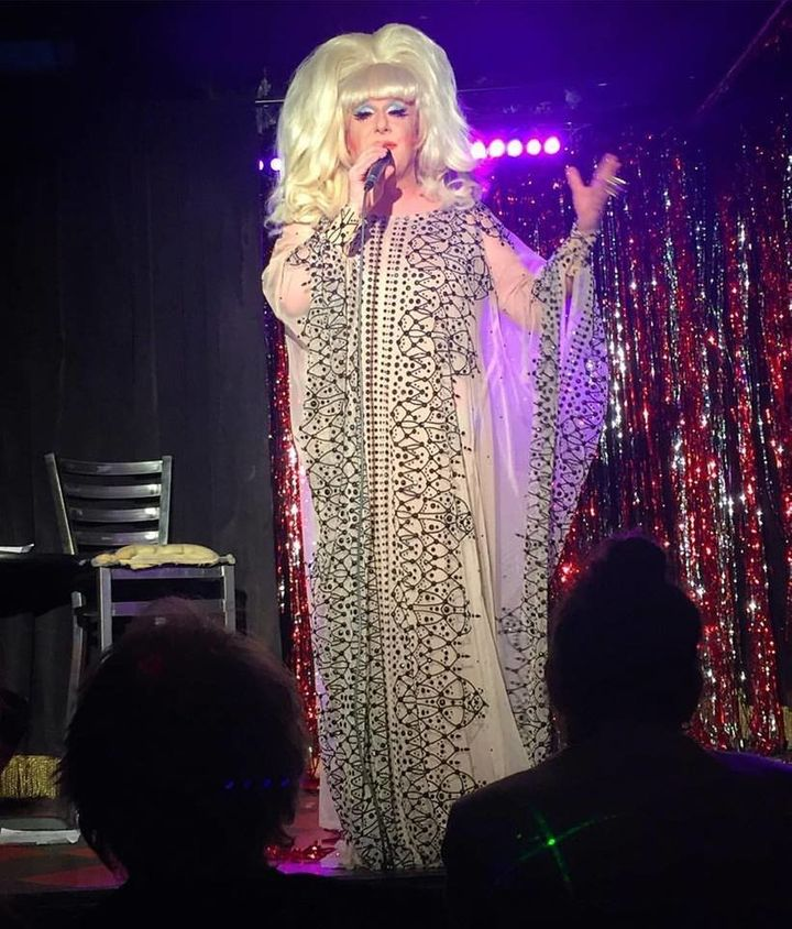 "Lady Bunny currently stars in ""Trans-jester,"" now playing in New York."