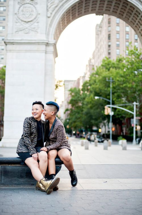 """Deciding to go for a spontaneous elopement, especially during the historic passing of marriage equality in the U.S., turned"