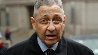 NEW YORK, NY - MAY 03: Former New York Assembly Speaker Sheldon Silver arrives to federal court in Lower Manhattan on May 3, 2016 in New York City.  Former New York state assembly speaker Silver will be sentenced to prison for corruption schemes that federal officials said captured $5 million over a span of two decades  (Photo by Eduardo Munoz Alvarez/Getty Images)