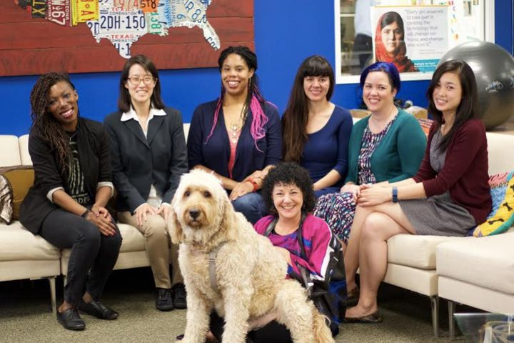 The women of Project Include from left to right (top): Y-Vonne Hutchinson, Ellen Pao, Erica Joy Baker, Laura Gomez, bethany M