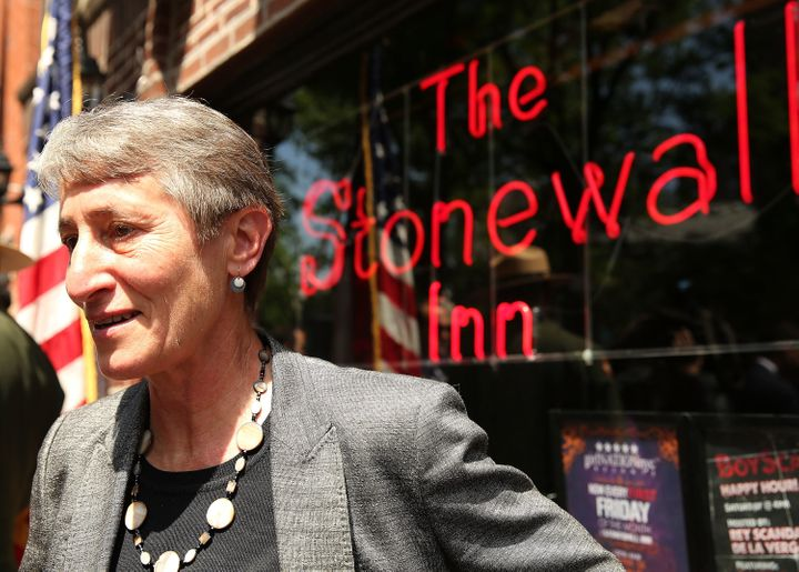 The Stonewall Inn, an iconic bar in the New York's gay rights movement, is the site of a symbolic riot in 1969 that is widely