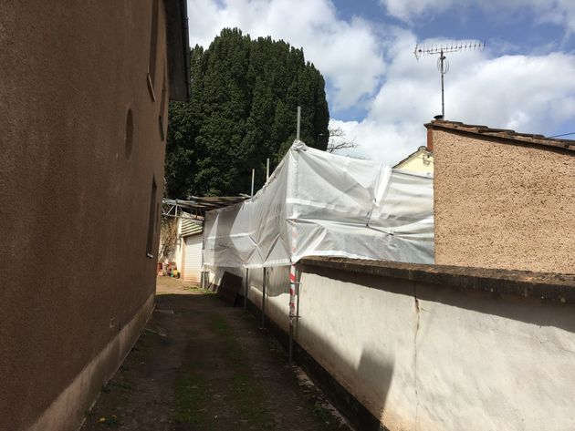 Police are 'undertaking excavation work' at the Bradninch property following a