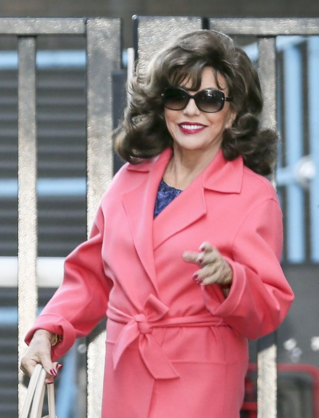 Dame Joan Collins makes her to the 'GMB' studios on