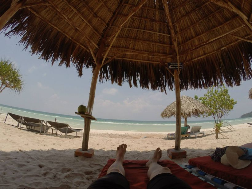 Digital nomads don't actually WORK at the beach, just for the record.