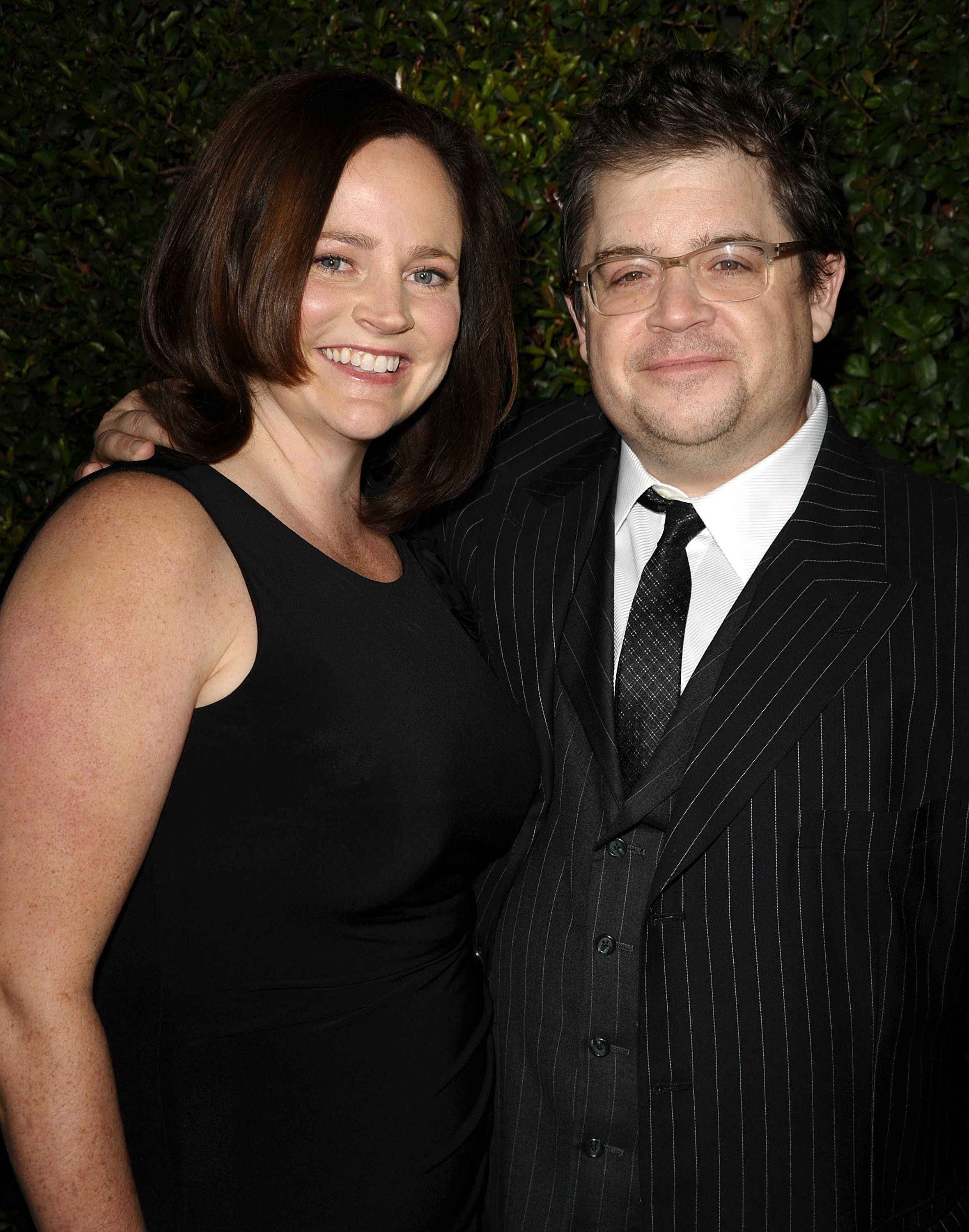 "Patton Oswalt and late wife Michelle McNamara attend the ""Young Adult"" Los Angeles Premiere on Dec. 15, 2011, in Beverly Hill"
