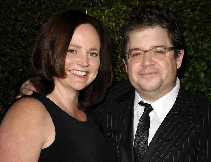 """Patton Oswalt and late wife Michelle McNamara attend the """"Young Adult"""" Los Angeles Premiere on Dec. 15, 2011, in Beverly Hill"""