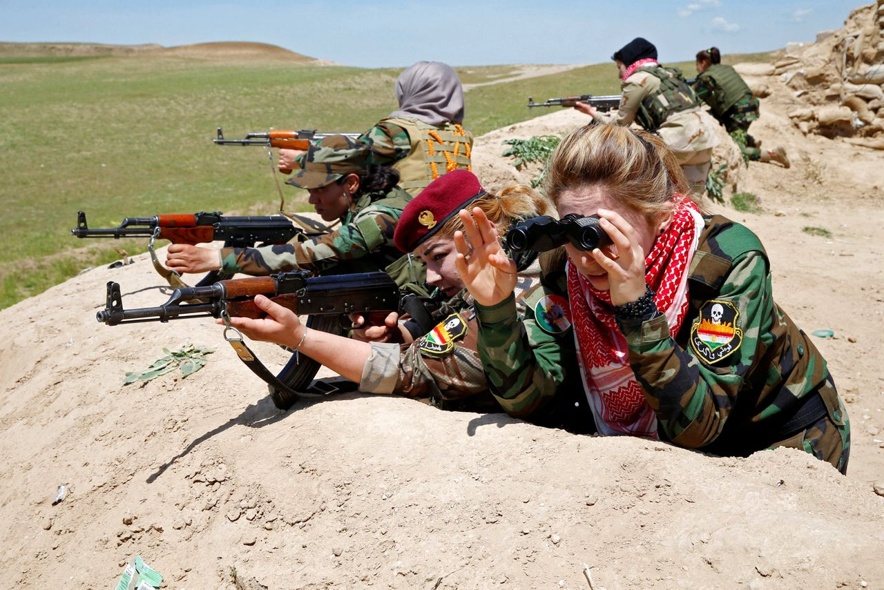Now they are part of an all-female unit in the Kurdish peshmerga forces, comprised of women from Iraq's minority Yazidi community as well as Kurds from Iraq and Syria.