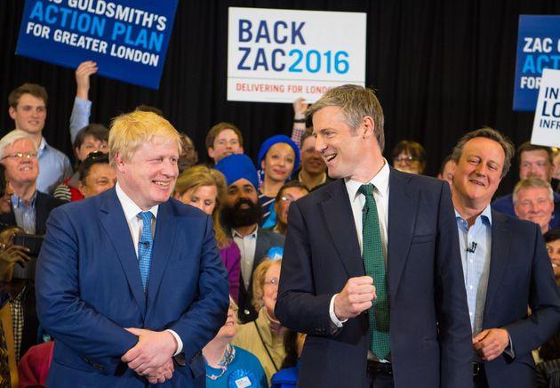 Mr Goldsmith hailed the success of outgoing mayor Boris