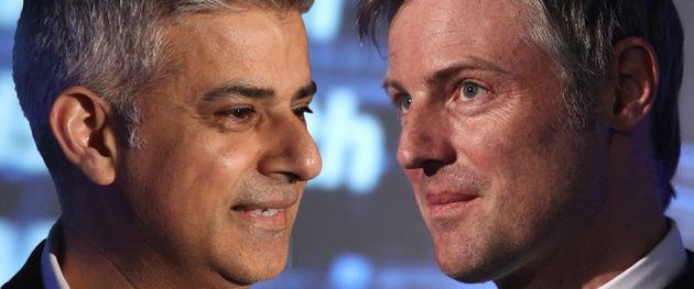 London mayor candidatesSadiq Khan and Zac
