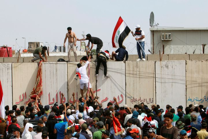 Protesters stormed Baghdad's Green Zone over the weekend to demand governmental reform.