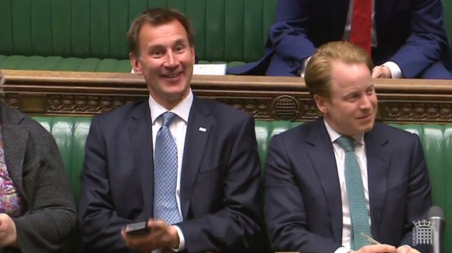 Jeremy Hunt Told Off For Using Phone In Commons By Speaker John