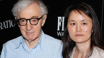 NEW YORK, NY - JULY 15:  Woody Allen (L) and Soon-Yi Previn attend Sony Pictures Classics 'Irrational Man' premiere hosted by Fiji Water, Metropolitan Capital Bank and The Cinema Society on July 15, 2015 in New York City.  (Photo by Rob Kim/FilmMagic)