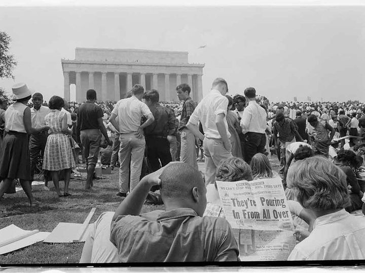 March on Washington, August 28, 1963, at the Lincoln Memorial