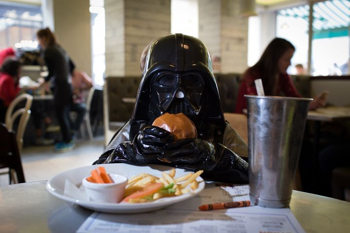 Apparently Sith Lords chow down on burgers and fries.