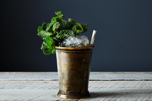"""<strong>Get the <a href=""""http://food52.com/recipes/27858-mint-julep"""" target=""""_blank"""">Classic Mint Julep recipe</a> from Erik"""