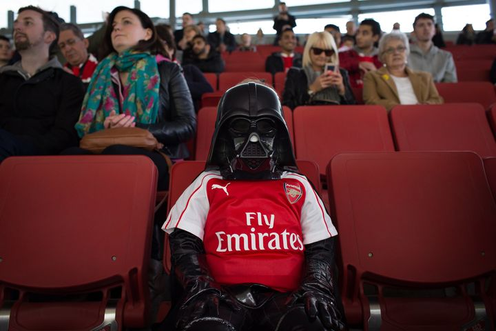 Turns out Darth Vader is an Arsenal fan.