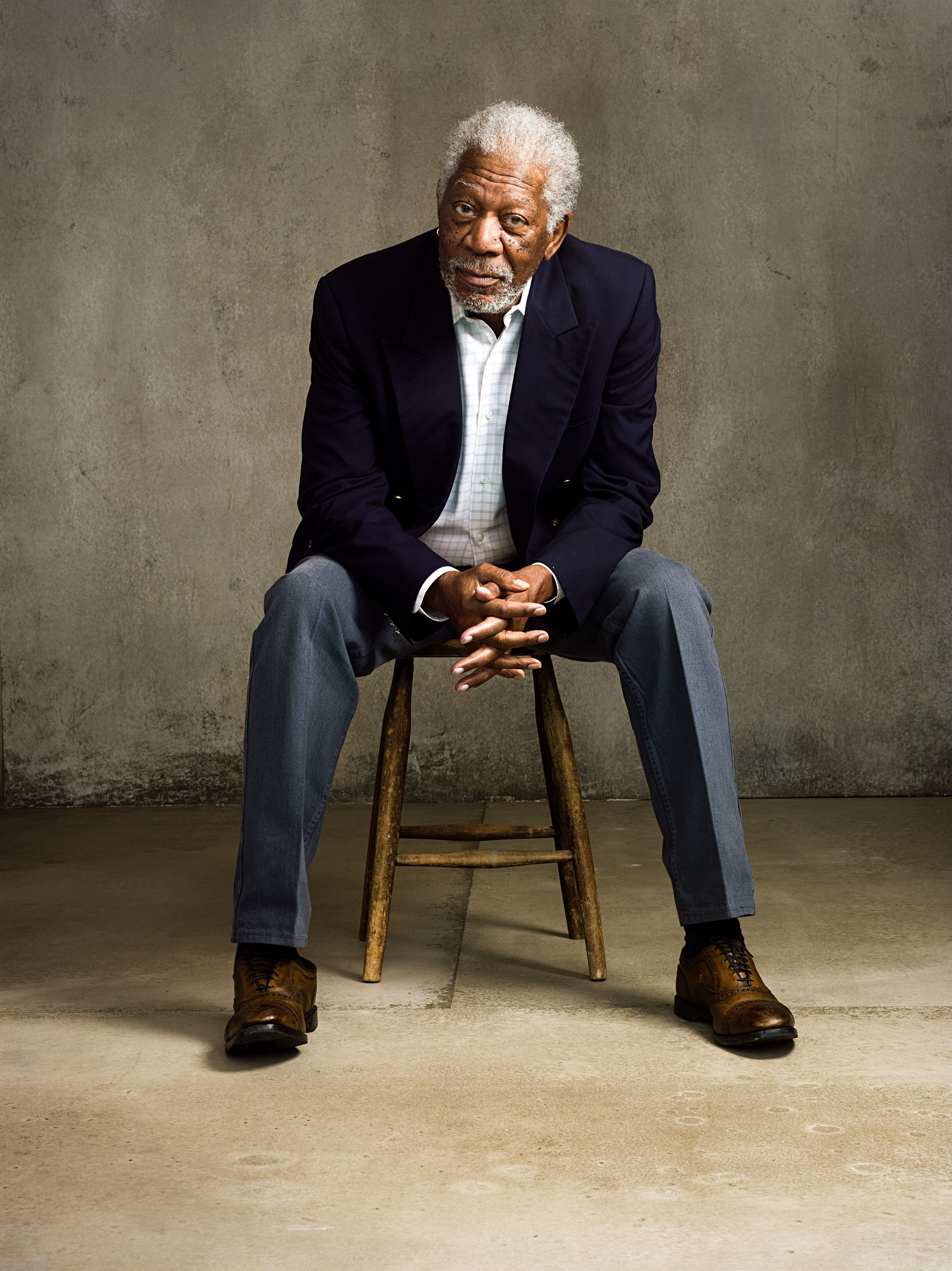 """Morgan Freeman from """"The Story of God with Morgan Freeman"""" airing on the National Geographic Channel.(photo credit:  National Geographic Channels/Miller Mobley)"""