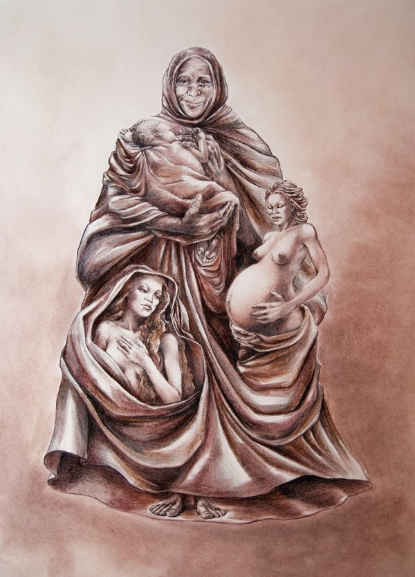 Many Neo-pagans and Wiccans consider the Great Mother to represents the phase in a woman's life that is full of growth,