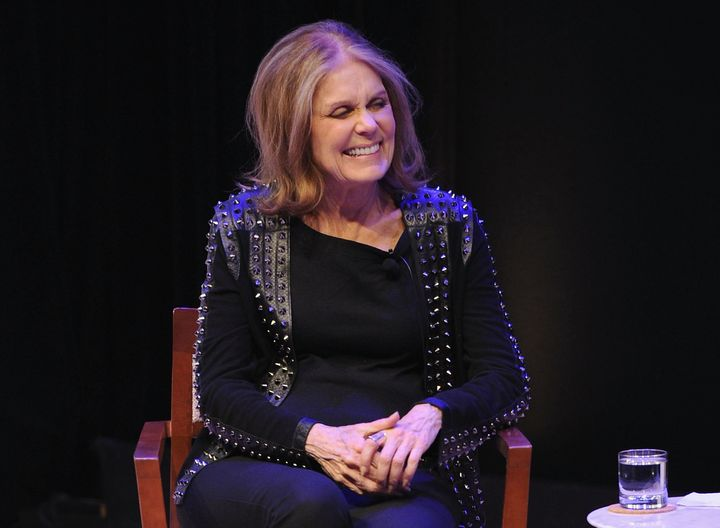 "Gloria Steinem laughs in the face of misogynists everywhere at the May 4 premiere of Viceland's ""WOMAN."""