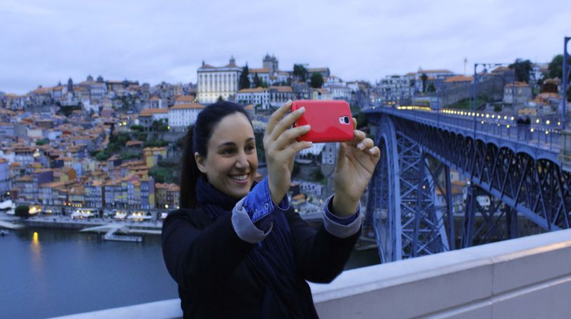 Taking a selfie in Porto, Portugal